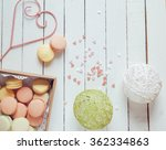 colorful macaroons with lovely... | Shutterstock . vector #362334863