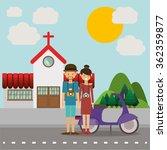 traveler lifestyle design  | Shutterstock .eps vector #362359877
