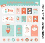 collection of valentines day... | Shutterstock .eps vector #362375603