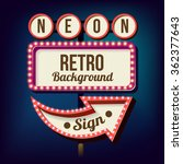 3d vintage street sign. retro... | Shutterstock .eps vector #362377643