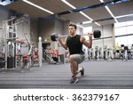 young man flexing muscles with... | Shutterstock . vector #362379167