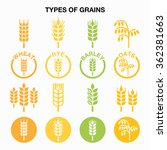 types of grains  cereals icons  ... | Shutterstock .eps vector #362381663