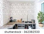 modern simple kitchen interior... | Shutterstock . vector #362382533