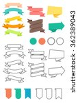 ribbons set in flat and line... | Shutterstock .eps vector #362389043