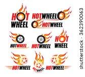 hot wheel  racing flat labels...   Shutterstock .eps vector #362390063