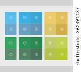 set of flat web elements with... | Shutterstock .eps vector #362391137