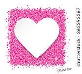 frame in heart shape on pink... | Shutterstock .eps vector #362393267