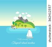 vector tropical island... | Shutterstock .eps vector #362412557