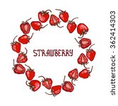 frame with strawberries.... | Shutterstock .eps vector #362414303