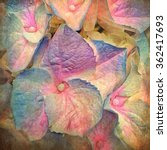 Close Up Of Painterly Pastel...