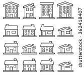 vector house line icons.vector | Shutterstock .eps vector #362418407