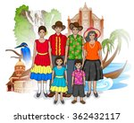 vector design of goan family... | Shutterstock .eps vector #362432117