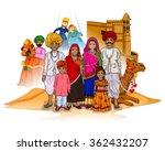 Vector Design Of Rajasthani...