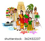 vector design of tamil family... | Shutterstock .eps vector #362432237