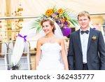 bride and groom  at wedding... | Shutterstock . vector #362435777