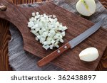 Finely Chopped Onion On A...