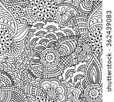 seamless black and white...   Shutterstock .eps vector #362439083