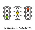 traffic light interface icons....
