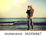 little girl with her father  ... | Shutterstock . vector #362456867