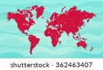 paths on vector world map with... | Shutterstock .eps vector #362463407