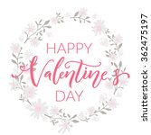happy valentines day card with...   Shutterstock .eps vector #362475197