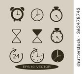 time and clock icons. vector... | Shutterstock .eps vector #362478743