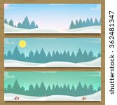 Three Winter Landscape Banners...