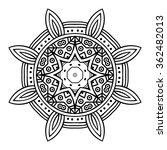 round ornament. ethnic mandala. ... | Shutterstock .eps vector #362482013