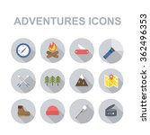 outdoor adventures icons ... | Shutterstock .eps vector #362496353