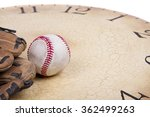a baseball and mitt on an old... | Shutterstock . vector #362499263