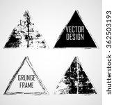 triangle retro shape. black... | Shutterstock .eps vector #362503193