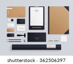 corporate identity template set.... | Shutterstock .eps vector #362506397