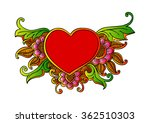 floral ornament heart shape for ... | Shutterstock .eps vector #362510303