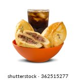esfiha meat and soda on the... | Shutterstock . vector #362515277