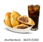esfiha meat and soda on the... | Shutterstock . vector #362515283