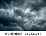 dramatic black sky cloud storm... | Shutterstock . vector #362521367