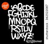 handwritten graffiti font
