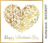 greeting gold heart elements...   Shutterstock .eps vector #362528297