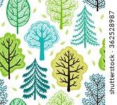 spring garden seamless pattern | Shutterstock .eps vector #362528987