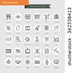 thin thin line icons set of... | Shutterstock .eps vector #362538413