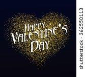 """happy valentine's day"" font... | Shutterstock .eps vector #362550113"