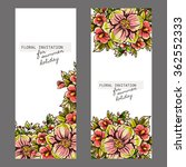 vintage delicate invitation... | Shutterstock . vector #362552333