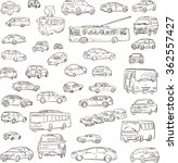 set of sketched cars  hand...   Shutterstock .eps vector #362557427