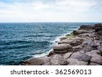 Horizon And Rocky Coastline...