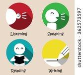 basic of language skills... | Shutterstock .eps vector #362573597