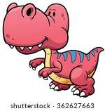 vector illustration of dinosaur ... | Shutterstock .eps vector #362627663