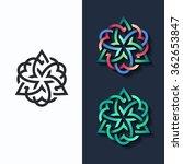 vector flower  multicolor shape ... | Shutterstock .eps vector #362653847