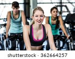 fit woman working out at class... | Shutterstock . vector #362664257