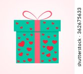 present box with hearts and... | Shutterstock .eps vector #362675633