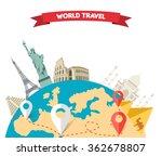 world adventure travel....   Shutterstock . vector #362678807